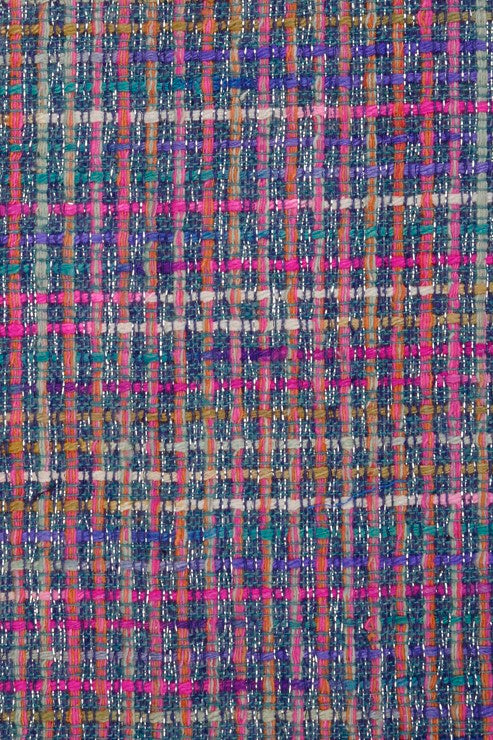 Purple Blue Silk Tweed 4 Fabric