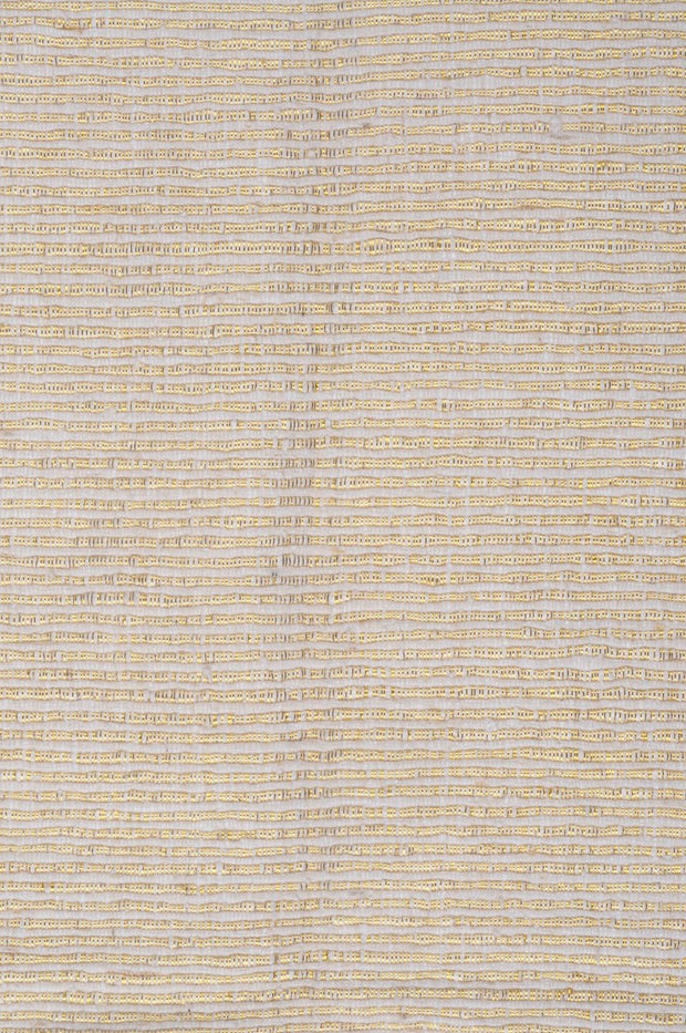 White Gold Metallic Silk Tweed 15A Fabric