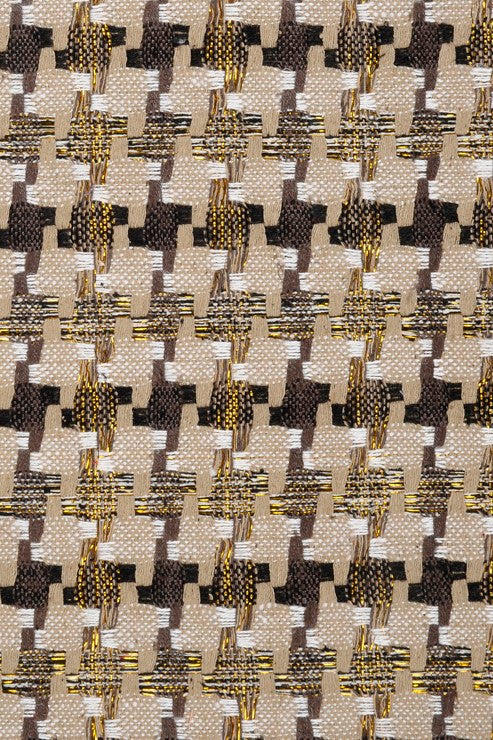 White Gold Silk Tweed 11 Fabric