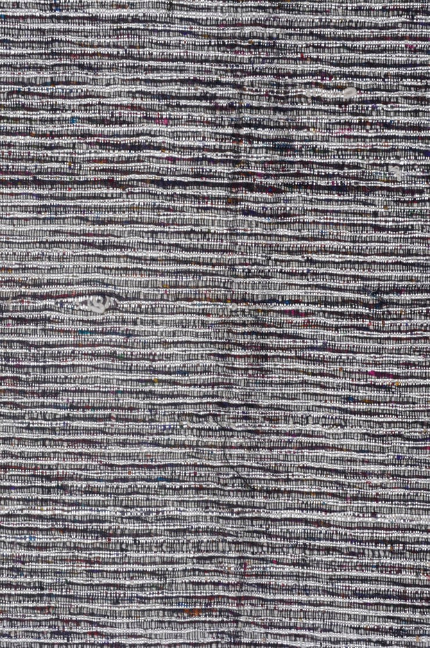 Multi-Color Silver Metallic Silk Tweed 55 Fabric