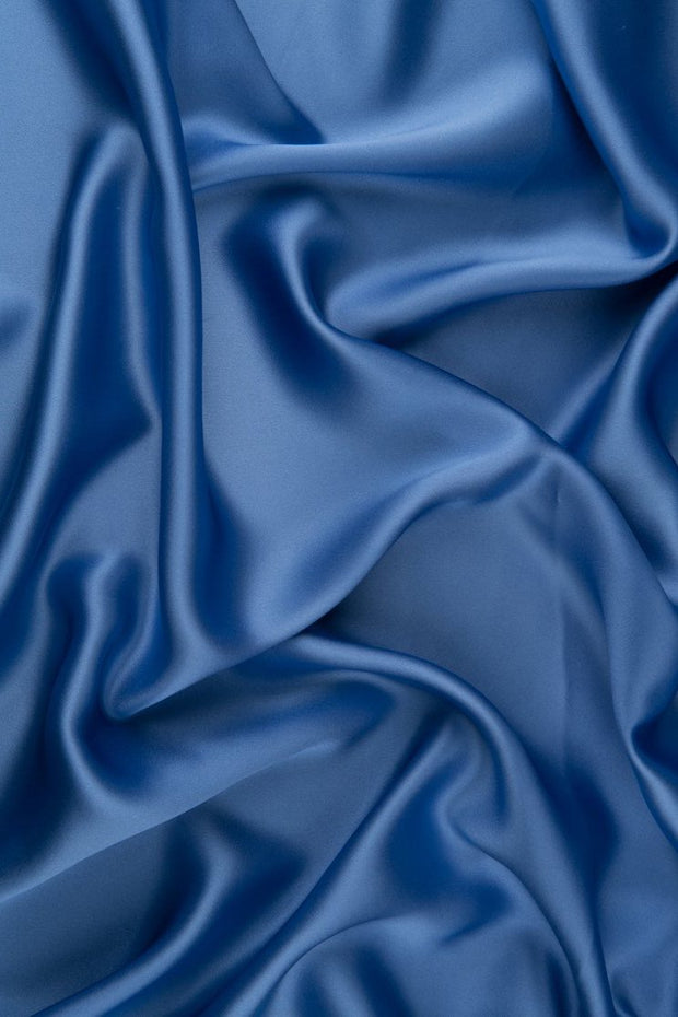 Ultramarine Charmeuse Silk Fabric