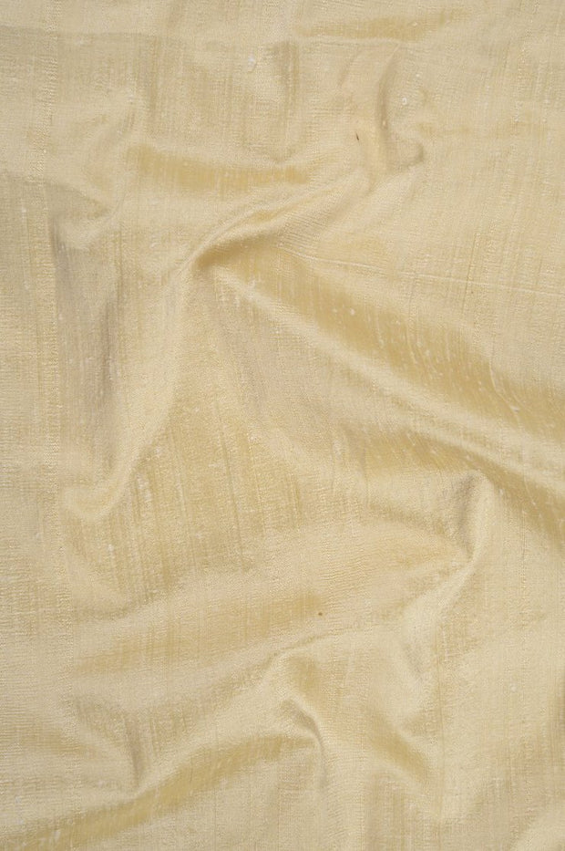 Vanilla Custard Dupioni Silk Fabric