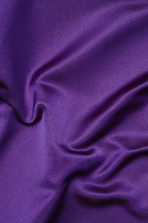 Violet Silk Duchess Satin Fabric
