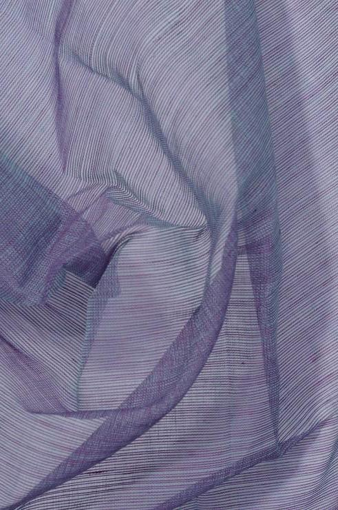 Violet Storm Blue Cotton Voile Fabric