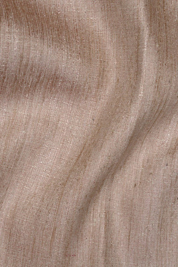 Warm Taupe Katan Matka Silk Fabric