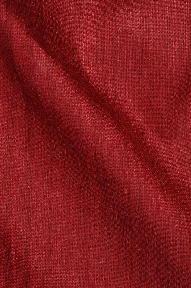 Wine Katan Matka Silk Fabric