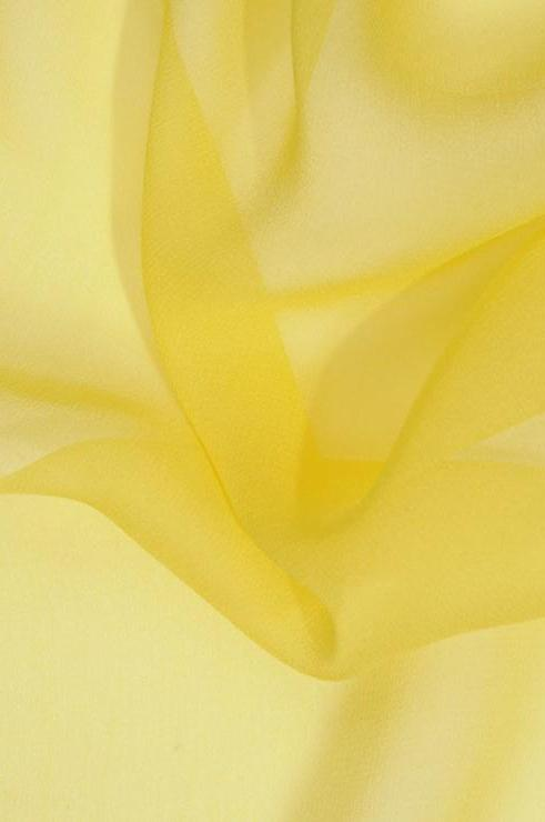 Yellow Silk Georgette Fabric