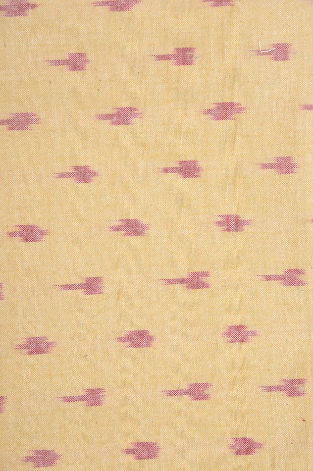 Yellow Gold Cotton Ikat 127 Fabric