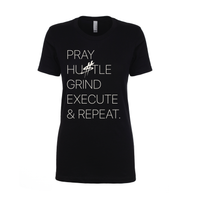 'Pray, Hustle, Grind, Execute & Repeat' T-Shirt