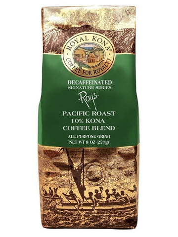 Royal Kona Coffee Co. Roy's Pacific Roast DECAF 8 oz