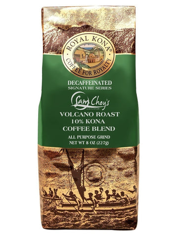 Royal Kona Coffee Co. Sam Choy's Volcano Roast DECAF 8 oz
