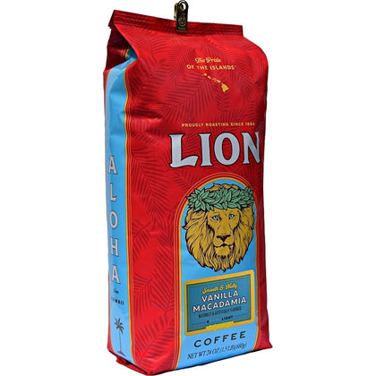 LION 24 oz Vanilla Macadamia Nut (large bag) -  Whole Bean