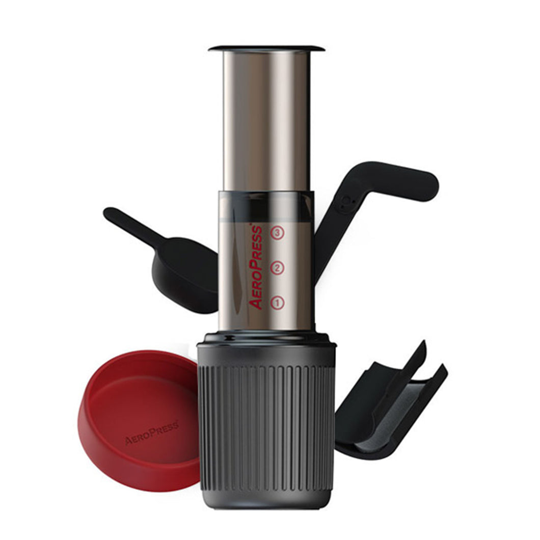 The AeroPress Go gives you all the great brewing capabilities of the original AeroPress and fuels an active lifestyle by packing up neatly in its own mug for delicious coffee anywhere you go.