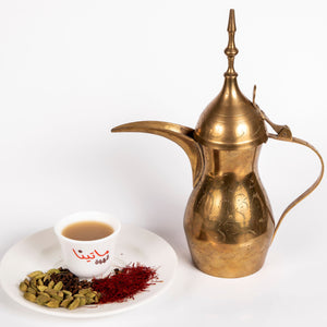 serving set of the authentic Arabic coffee with dallah and 7cl cup