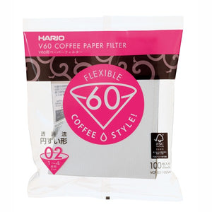 V60 Paper Filter 02 W 100 Sheets by HARIO