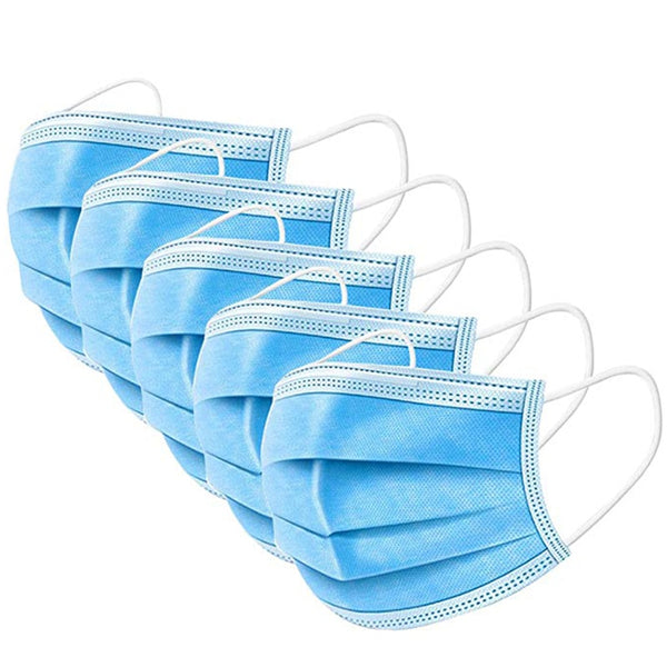 3PLY MASK 25X25X20 GSM CORONAVIRUS PROTECTION ANTI DUST & WATERPROOF
