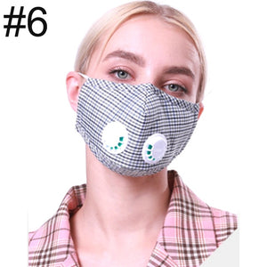 L.Mirror Dust Mask Dustproof Mask With Dual Breathing Valve And Extra Activated Carbon Filters for Pollen Allergy Woodworking