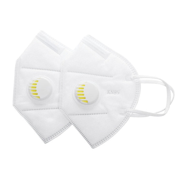 2Pcs Unisex Vertical Folding Nonwoven Valved Activated Carbon Anti Fog Dust Reusable Masks PM2.5 Respirator Fashion Mouth Mask