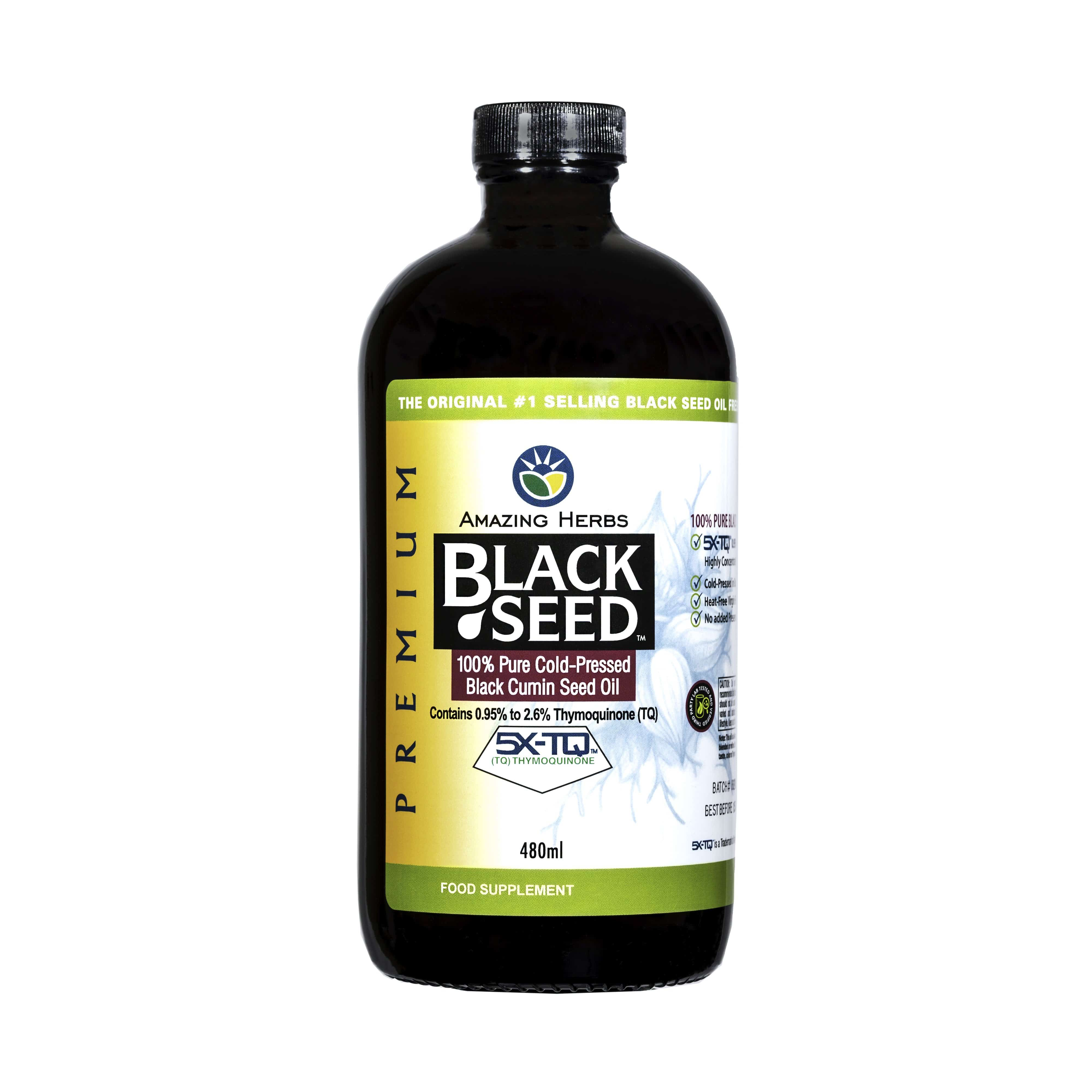 Amazing Herbs UK Amazing Herbs Premium 100% Pure Cold-Pressed Black Cumin Seed Oil, 480ml