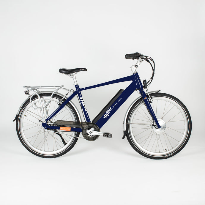 EMU Crossbar Electric Bike in Navy Blue