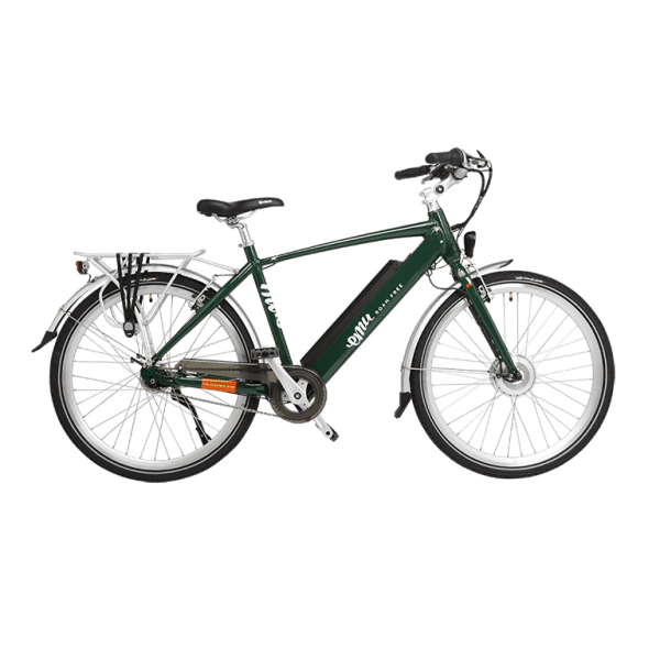 EMU Crossbar Electric Bike in Racing Green