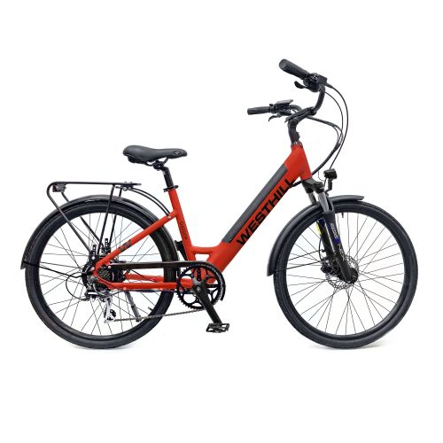 Westhill Classic Step Through Electric Bike in Red