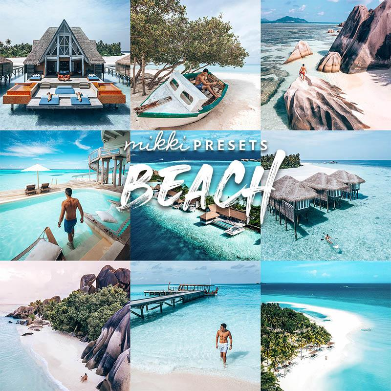 BEACH // 6 MOBILE & 6 DESKTOP PRESETS Preset Collection The Globe Wanderer Presets