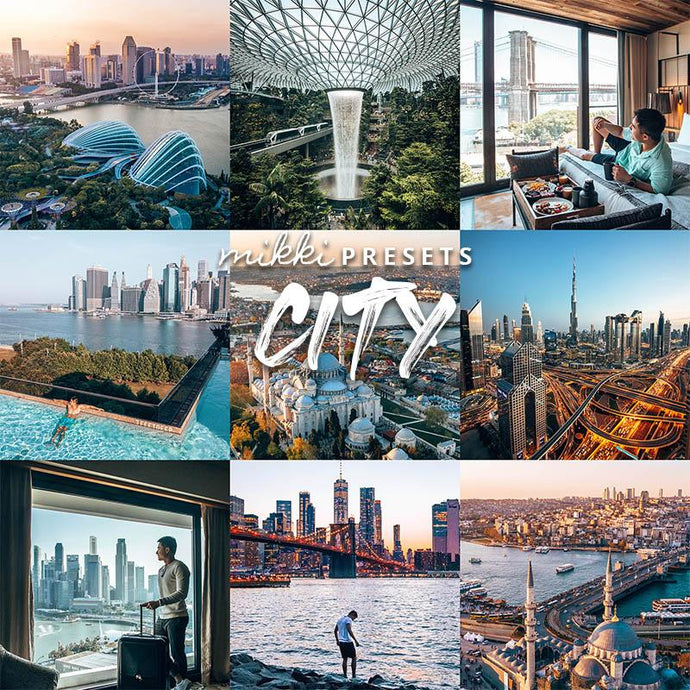 CITY // 15 MOBILE & 15 DESKTOP PRESETS Preset Collection The Globe Wanderer Presets