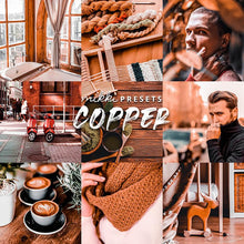 Load image into Gallery viewer, COPPER // 15 MOBILE & 15 DESKTOP PRESETS Preset Collection The Globe Wanderer Presets