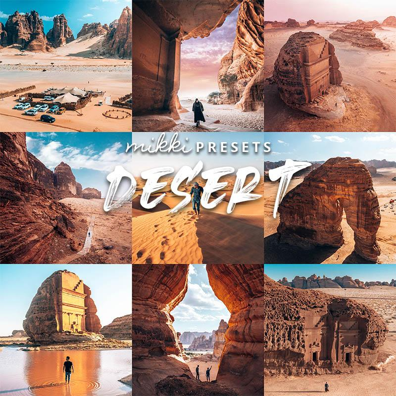 DESERT // 15 MOBILE & 15 DESKTOP PRESETS Preset Collection The Globe Wanderer Presets