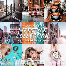Load image into Gallery viewer, LIFESTYLE COLLECTION // 75 MOBILE & 75 DESKTOP PRESETS Preset Collection The Globe Wanderer Presets