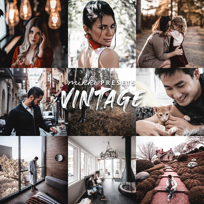 VINTAGE // MOBILE & DESKTOP PRESETS Preset Collection Mikki Presets