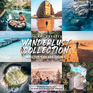 WANDERLUST COLLECTION MINI PACK // 36 MOBILE & 36 DESKTOP PRESETS Preset Collection The Globe Wanderer Presets
