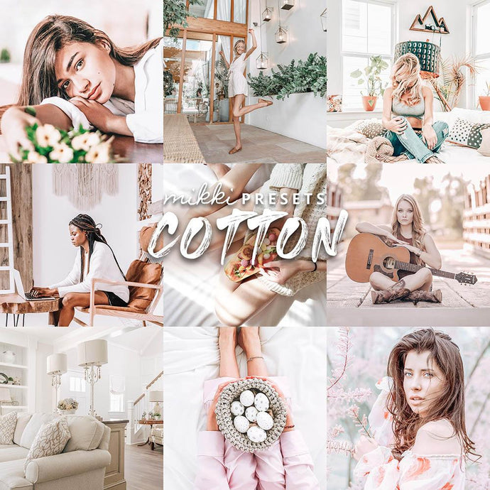 COTTON // 15 MOBILE & 15 DESKTOP PRESETS Preset Collection The Globe Wanderer Presets