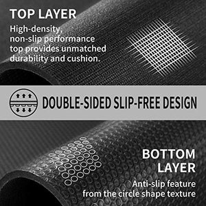 Cambivo Large Exercise Mat 6 X 4 X 1 4 Workout Mats For Home