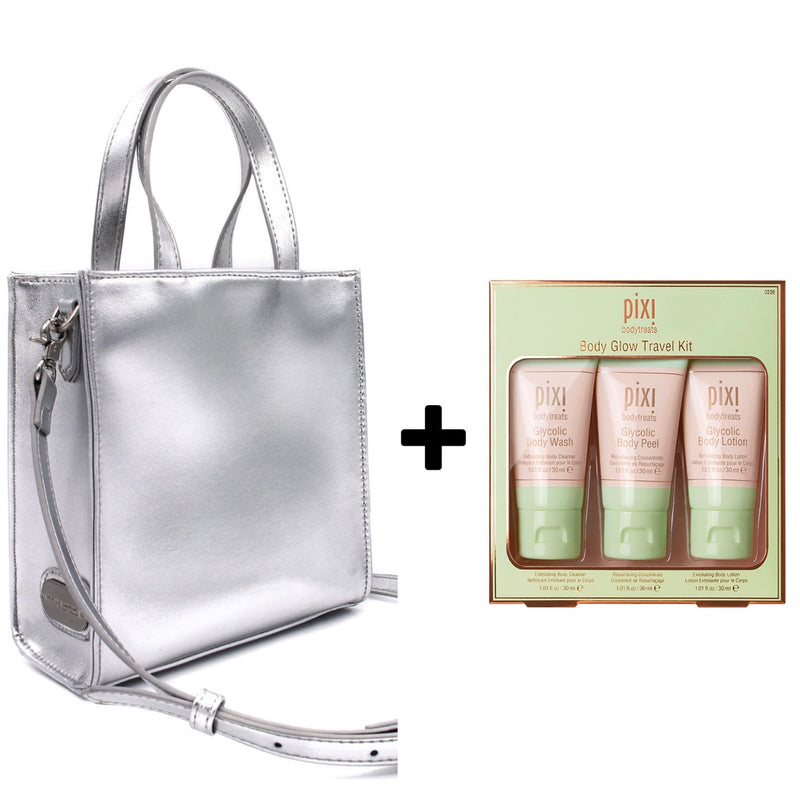 Mini Shopper Silver +  Pixi travel set