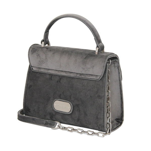 Mini Handle Bag - Grey Velvet