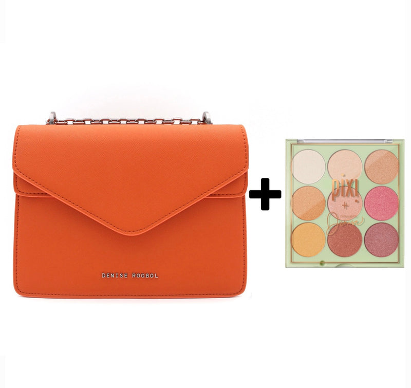 Charlie Bag Orange + Pixi Eyeshadow Palette