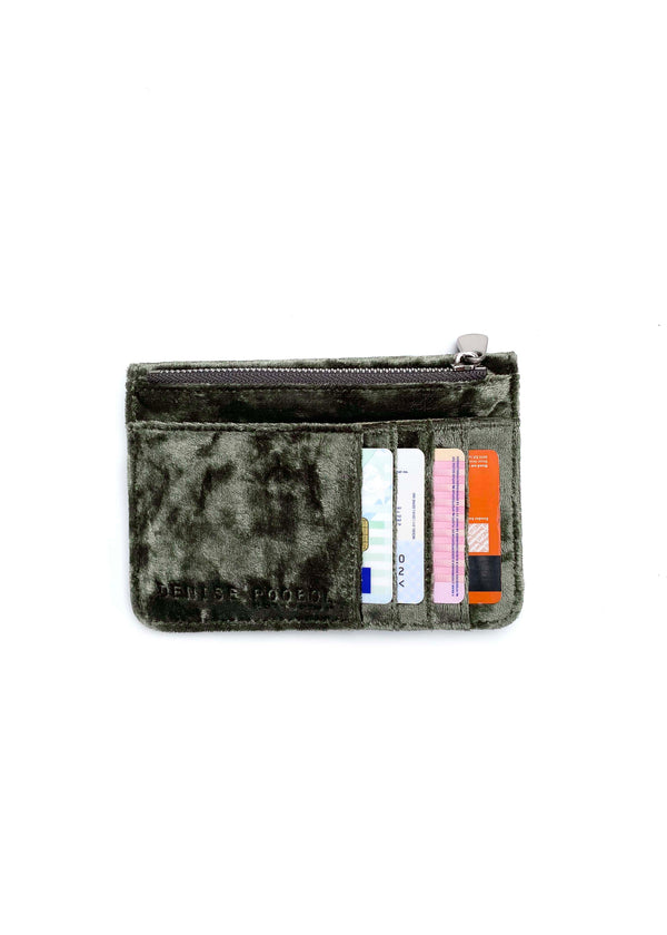 Mini Wallet - Army Velvet