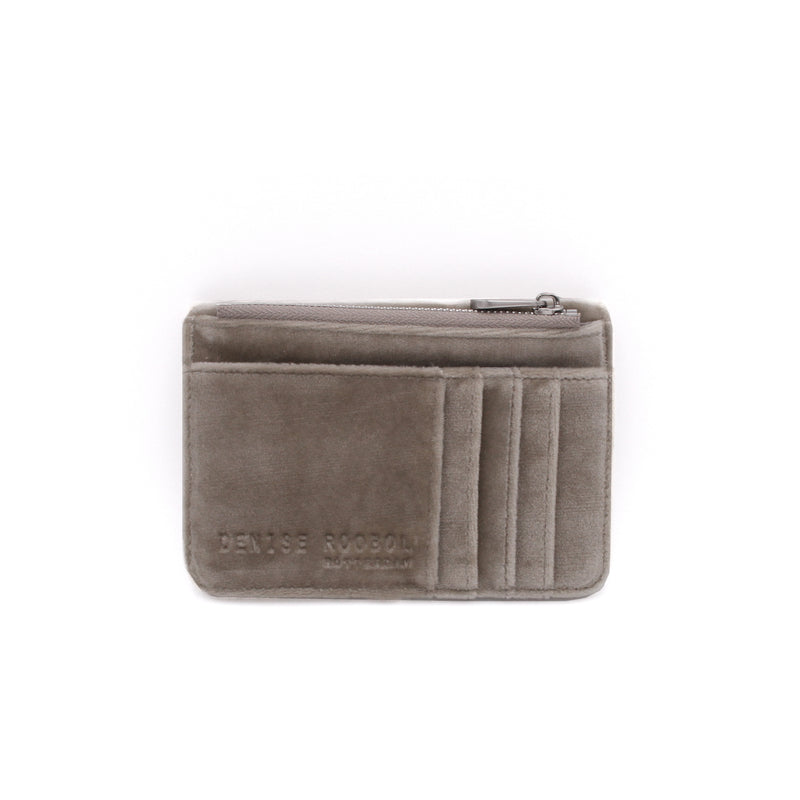 Mini Wallet - Dark Taupe Velvet