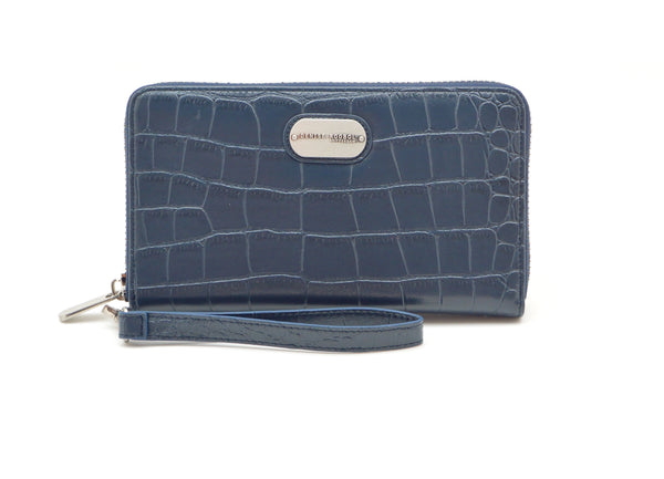 Wallet - Blue Croco