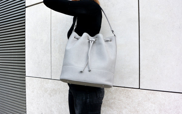 Bucket Bag - Grey Nubuck