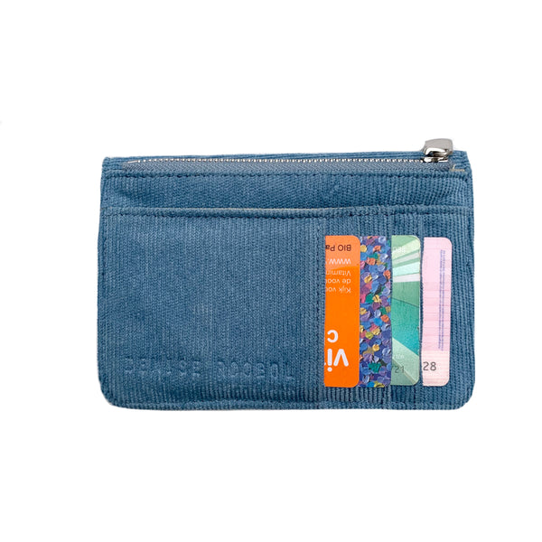 Mini Wallet - Baby Blue Rib Velvet