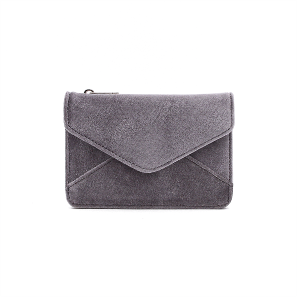 Mini Wallet - Grey Shine Velvet