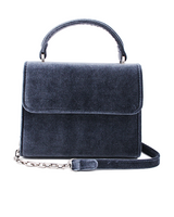Mini Handle Bag - Darkblue Velvet