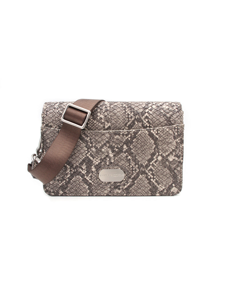Clutch Bag - Natural Snake