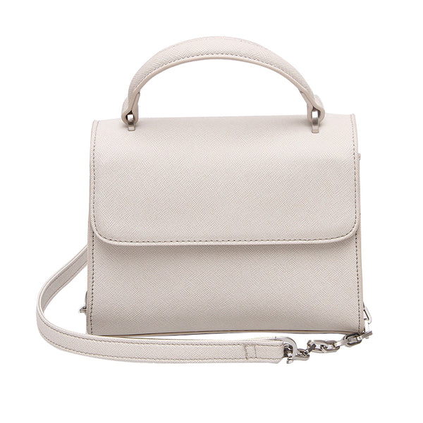 Mini Handle Bag - Creme Stripe