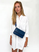 Clutch Bag - Blue Croco