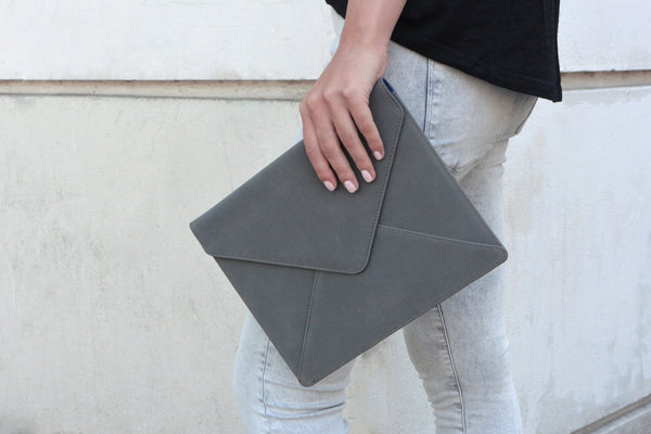 Ipad Clutch - Grey Soft
