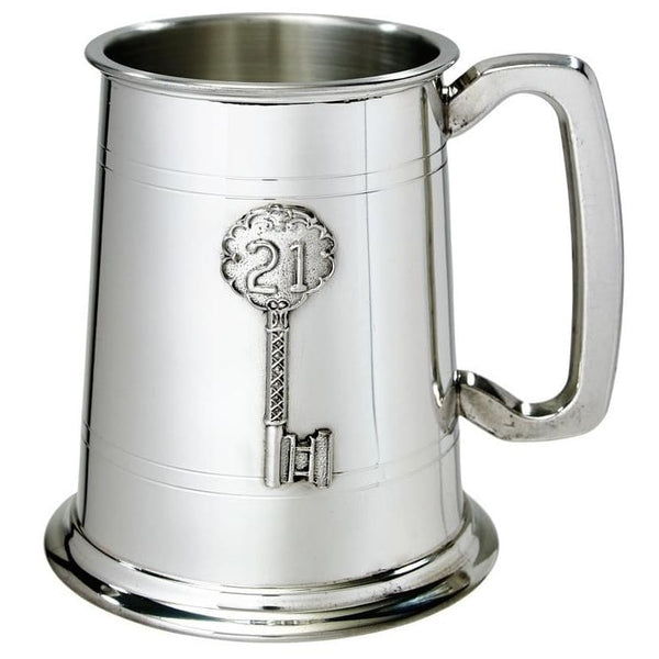 1 Pint 21st Birthday Key Badge Tankard